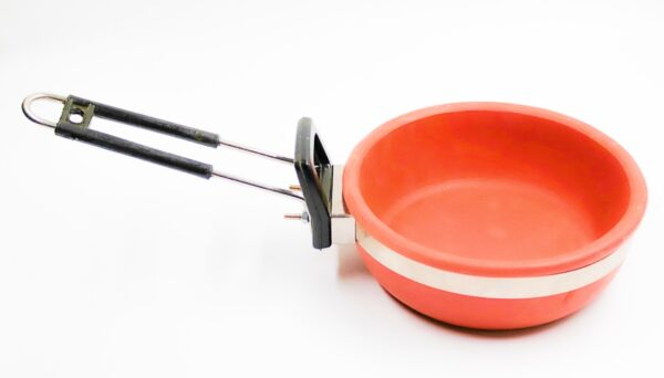 SeGrand Clay Sauce Pan (1.5 Litre) and Fry Pan (1 Litre) Combo Set with Glass Lid
